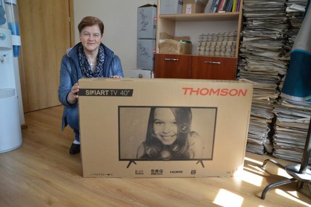 Telewizor Thomson Smart TV 40 LED HD trafił do Danuty Kawińskiej z Łodzierzy.