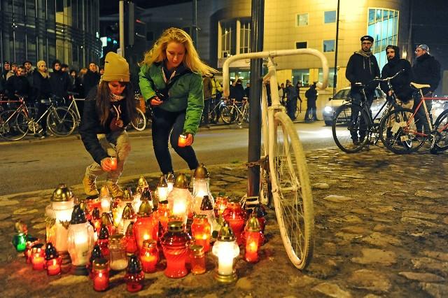 Przy ul. Św. Marcin stanął Ghost Bike