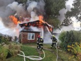 Burze na Pomorzu 28.08.2019. W Starogardzie Gdańskim zapalił się dom po uderzeniu pioruna! [zdjęcia]