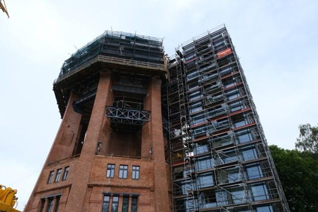 Półmetek prac modernizacyjnych w zabrzańskiej wieży ciśnień. Zobacz kolejne zdjęcia. Przesuwaj zdjęcia w prawo - naciśnij strzałkę lub przycisk NASTĘPNE