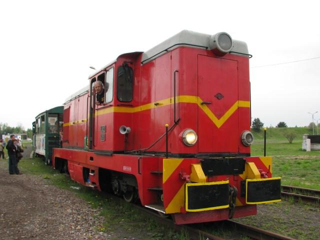 Kolejka wąskotorowa na stacji w Miasteczku Śląskim