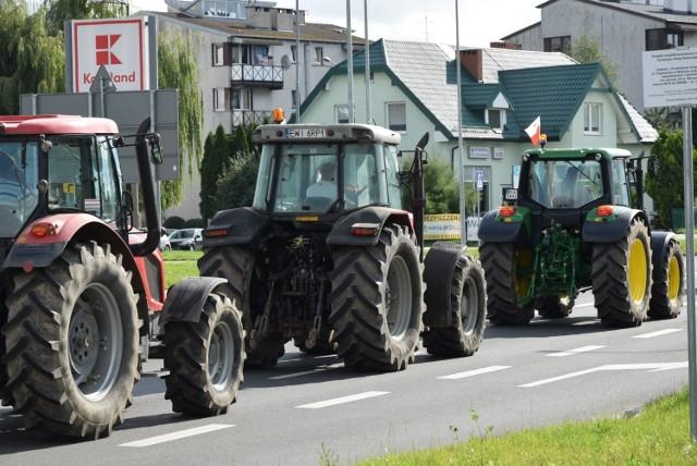 W październiku ubiegłego roku rolnicy protestowali na ulicach Wielunia.