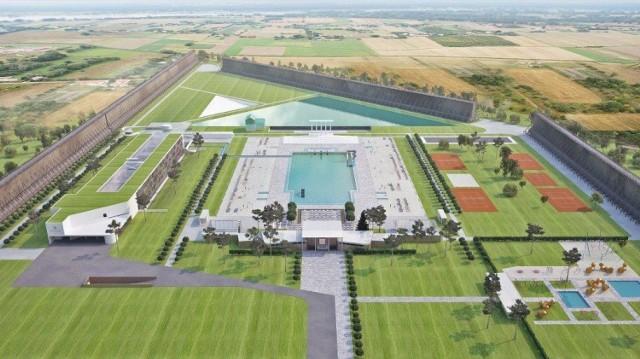 Według burmistrza, mieszkańcy czekają na odbudowę basenu ter-malno-solankowego (na zdj. wizja właściciela), a nie budowę nowego.