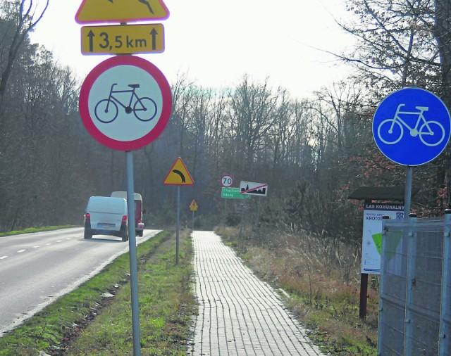 W tym roku ma zostać poszerzona ścieżka pieszo-rowerowa z Krotoszyna do Chachalni (gm. Zduny)