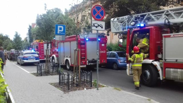 4 zastępy straży pożarnej interweniowały na ulicy Zamoyskiego w Bydgoszczy