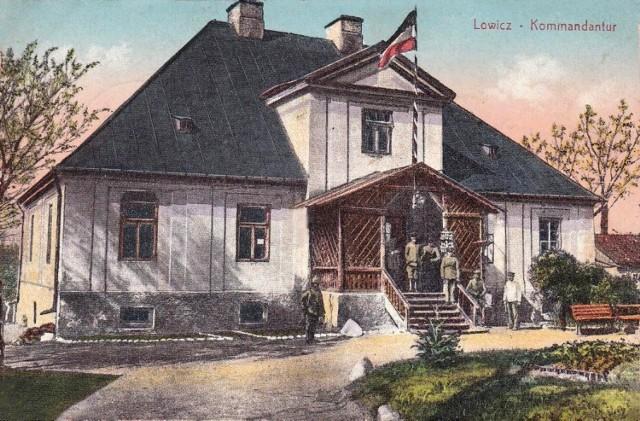 W czasie I wojny światowej w łowickiej sufragania znajdował się sztab okupacyjnych wojsk niemieckich