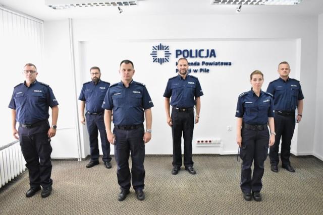 Nowi szefowie Wydziału Dochodzeniowo-Śledczego KPP w Pile