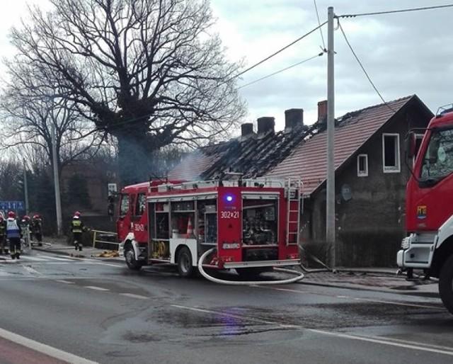 Pożar domu przy ulicy Bielskiej w Katowicach