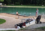 Kraków. Kąpią się w nowym stawie w Parku Lotników mimo zakazu [ZDJĘCIA]