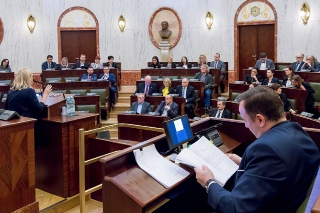 Lutowa sesja Sejmiku Województwa Śląskiego, podczas której podjęto uchwałę w sprawie GZM.