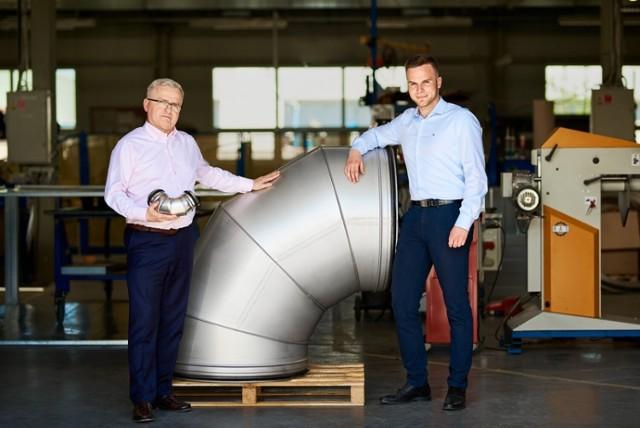 Janusz Urbanik, prezes firmy Ventor na zdjęciu ze swoim synem Piotrem