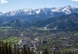 Zakopane. W końcu piękna pogoda w górach. Chmury zniknęły, pokazały się Tatry. Szkoda, że na jeden dzień...