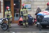 Wypadek motocyklisty na ul. Kolejowej w Legnicy [ZDJĘCIA]