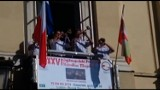 WSCHOWA. Wschowscy trębacze i puzoniści odegrali hymn Wschowy z balkonu w Lublinie [ZDJĘCIA]