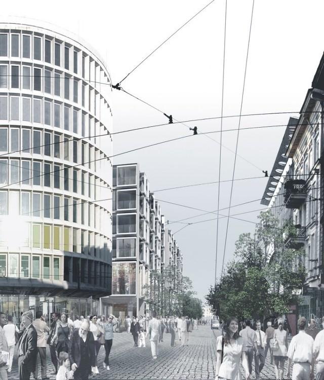 Projekt północnej pierzei ul. 27 Grudnia autorstwa JEMS Architekci