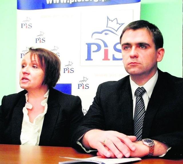 Anna Zalewska, posłanka PiS, oraz Piotr Sosiński