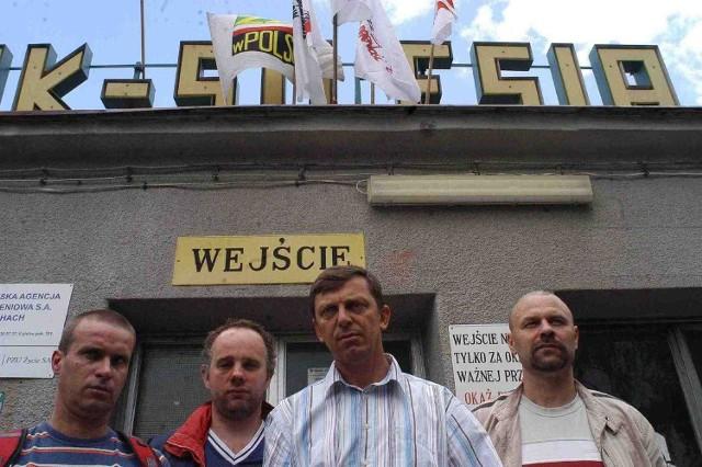 Nie dopuścimy do likwidacji kopalni - mówią związkowcy z Silesii. Pierwszy z prawej przewodniczący Dariusz Dudek