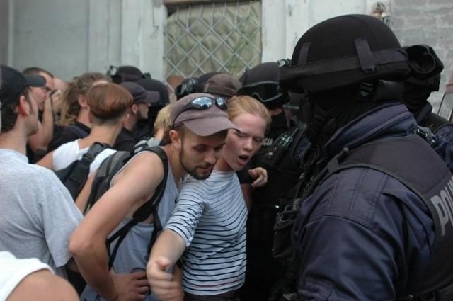 Akcja likwidacji skłotu przy ul. Podgórze.