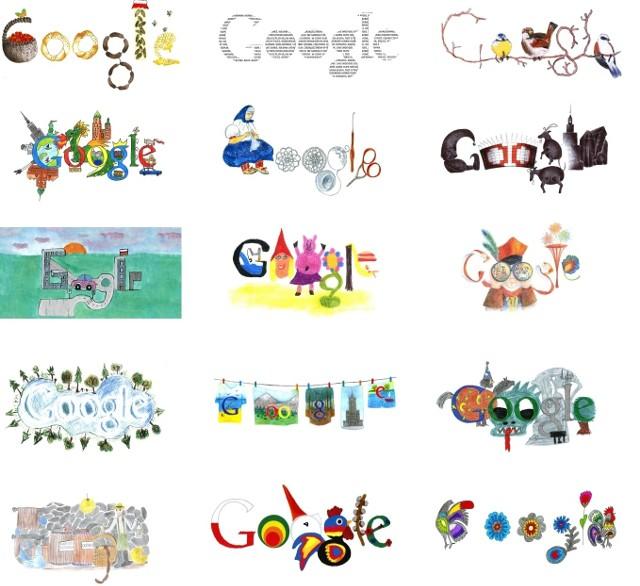 Kacper Barczak zaprojektował zwycięski doodle.