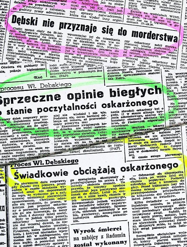O zbrodni i procesie gazety pisały niemal codziennie.