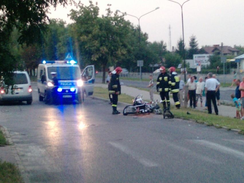 Skrzyżowanie ul. Paderewskiego i Śliwińskiego: Zderzenie motocykla z osobówką