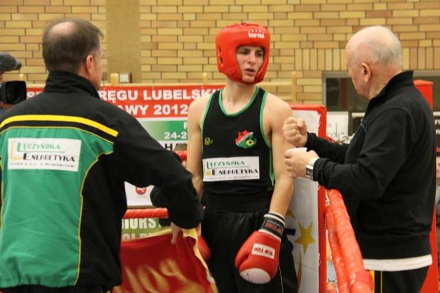 Michał Smerdel (Gwarek Łęczna) rywalizował w Poznaniu w kategorii wagowej 56 kg