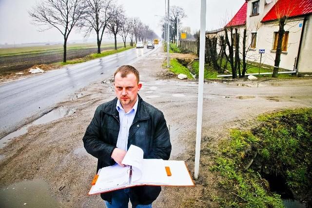 Marek Smykowski, sołtys Bolechowa: - Boimy się, że we wsi będzie panował ciągły smród
