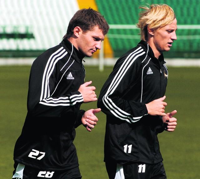 Aleksandr Sazankow i Ivans Lukjanovs z Lechii