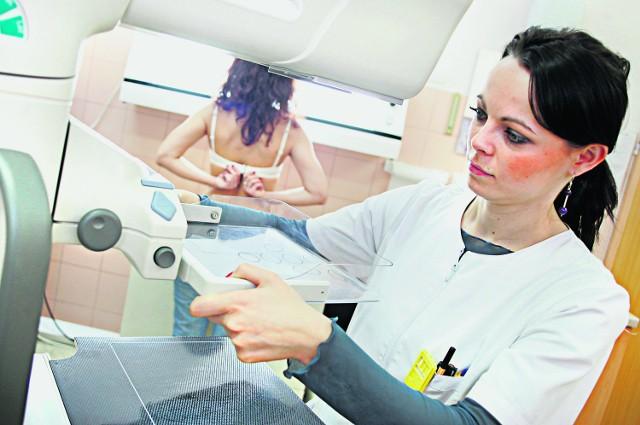 Mammografia wykrywa nowotwór, a test DNA ustali, czy jest on związany z defektem BRC1