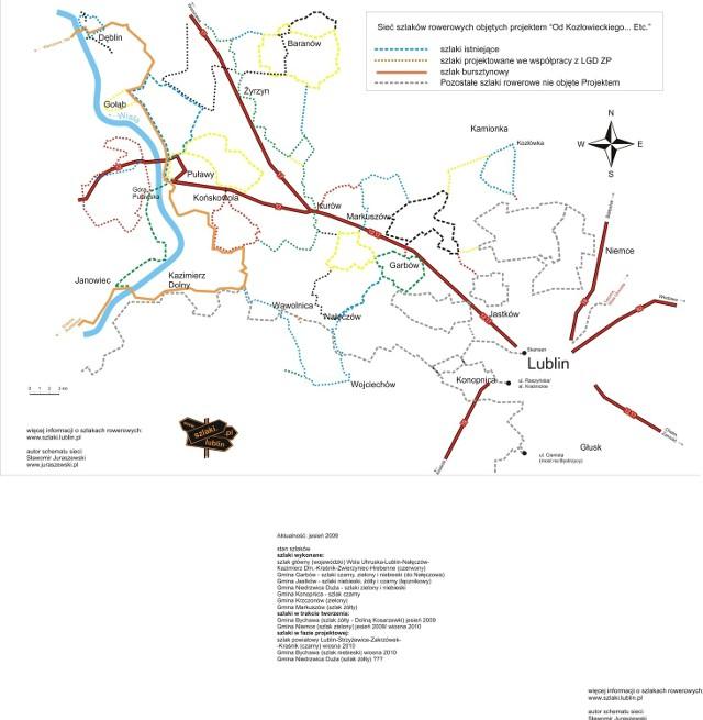 Mapa Bursztynowego Szlaku