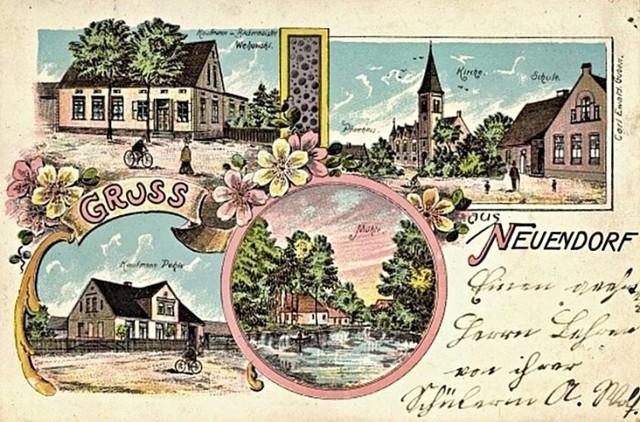 Czarnowo (gm. Krosno Odrzańskie), pocztówka z 1910 roku.
