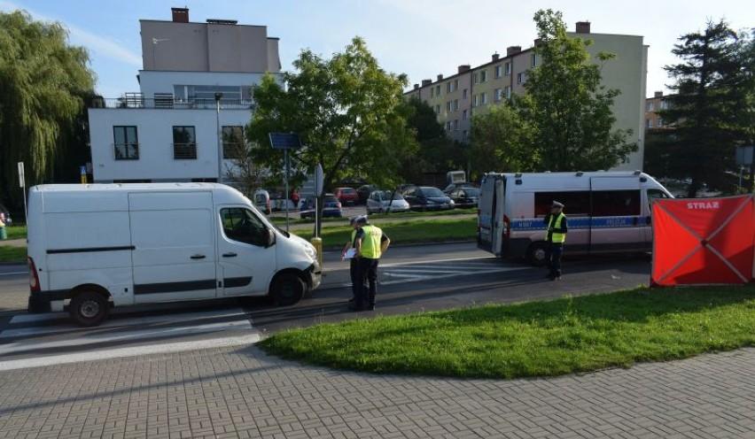 Do wypadku doszło na przejściu dla pieszych przy ul....