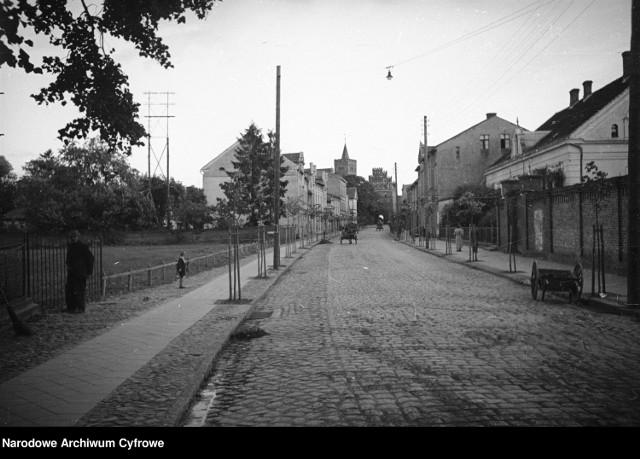 Ulica w Brodnicy, 1936 r.
