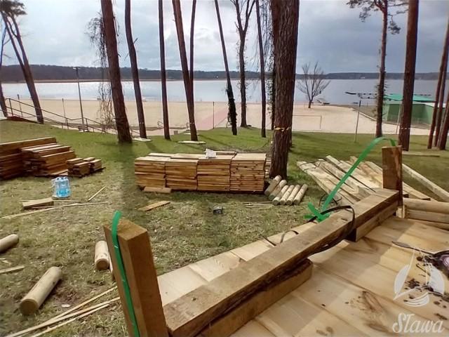 Atrakcje wśród drzew będą się znajdować tuż przy nowej plaży