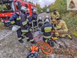 Strażacy ćwiczyli w Skierniewicach, żeby lepiej ratować ofiary wypadków