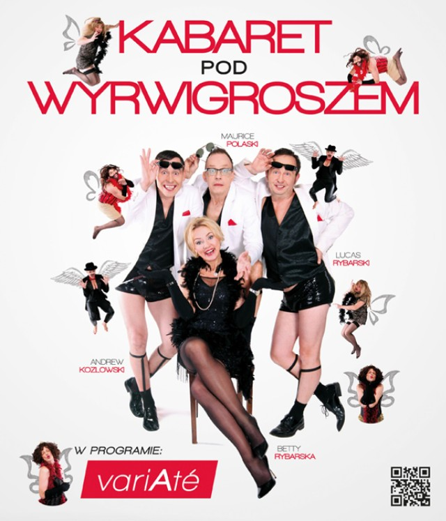 """Krakowski Kabaret pod Wyrwigroszem to jeden z najpopularniejszych kabaretów w Polsce. Występuje w czwórkę: Beata Rybarska, Andrzej Kozłowski, Maurycy Polaski, Łukasz Rybarski. W procesie twórczym uczestniczy także Tomasz Olbratowski, dziennikarz - satyryk z radia RMF FM.   W najnowszym, tegorocznym programie Kabaretu pod Wyrwigroszem – """"Variaté"""" znajdą Państwo najnowsze skecze, monologi i piosenki.  Błyskawiczne tempo programu, szereg inteligentnych skojarzeń i mnóstwo dowcipnych aktualności stanowią o jego powodzeniu na estradach całego kraju. Spotkanie z Kabaretem pod Wyrwigroszem to absolutna gwarancja śmiesznie spędzonego wieczoru.  Kabaret Pod Wyrwigroszem  11.12.2016 godz. 15:45  Dom Kultury Szczakowa MCKiS w Jaworznie Bilety: 55 zł"""