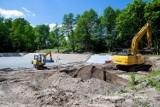 Trwa budowa zbiornika retencyjnego na ul. Sportowej w Kwidzynie [ZDJĘCIA]