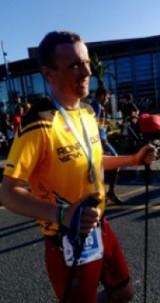 Łukasz Wawrzyniak, trener AZS PWSZ Wałbrzych wystartował na Wyspach Kanaryjskich w biegu górskim na 127 km