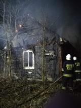 Gmina Szydłowiec. Spalił się drewniany dom we wsi Krzcięcin