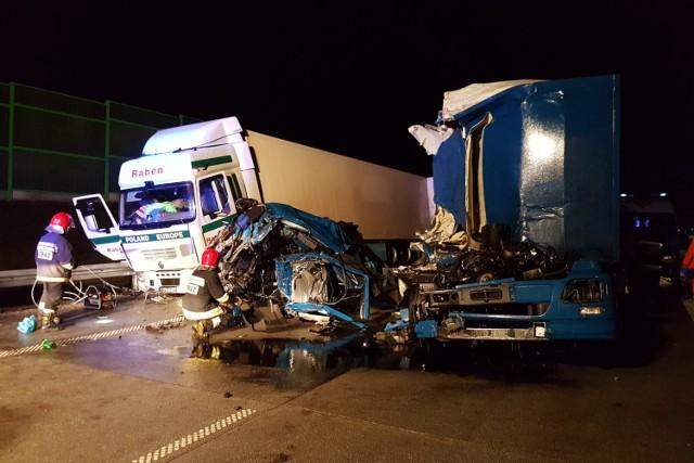 Wypadek na A1 w Łodzi przy węźle Łódź Północ