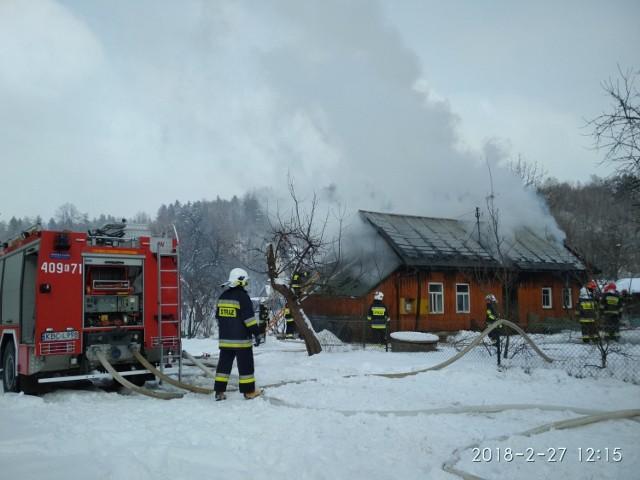 Pożar domu w Bytomsku, 27 II 2018