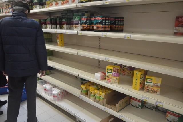 Tak wyglądają półki w bełchatowskich sklepach [ZDJĘCIA]
