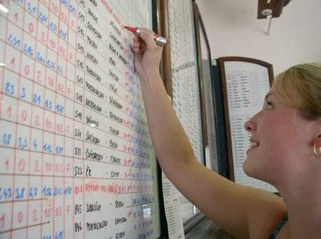 Żaneta Balonowa z zakładu bukmacherskiego w Czeskim Cieszynie poprawia notowania. Foto: WOJCIECH TRZCIONKA