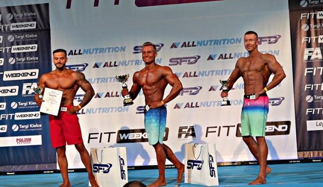Adrian Poździej podczas zawodów (pierwszy z prawej).