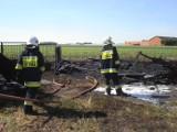 Pożar w gminie Żelazków. Ogień strawił budynek gospodarczy [FOTO]