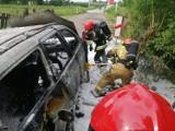 Pożar samochodu w Czechach pod Zduńską Wolą ZDJĘCIA