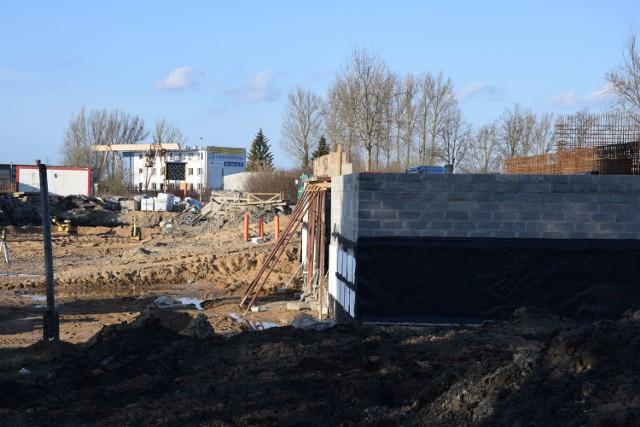 Plac budowy przy ulicy Wiatracznej w Szczecinku