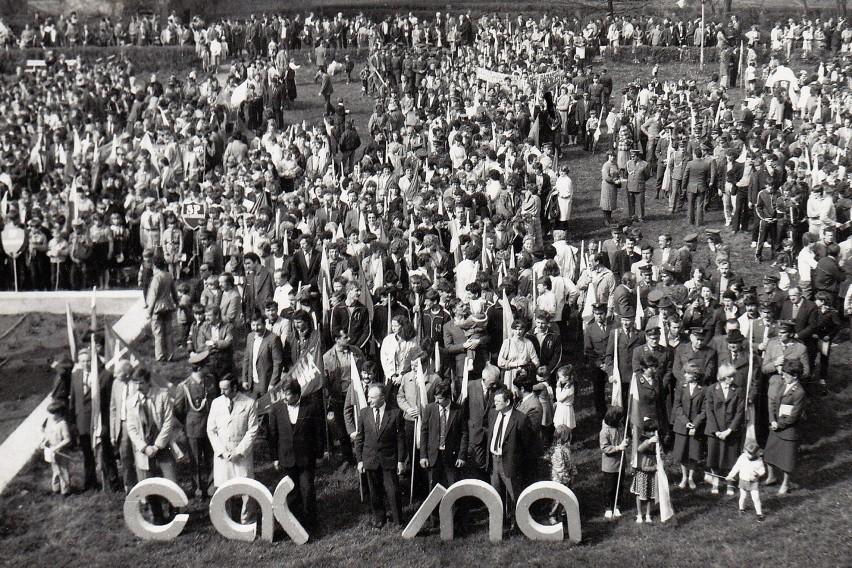 Pochody 1-majowe w Gubinie w latach 50, 60 i 70-tych.