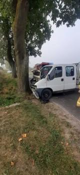 Pijany kierowca doprowadził do wypadku w Zbicznie. Uderzył w drzewo. Mamy zdjęcia!