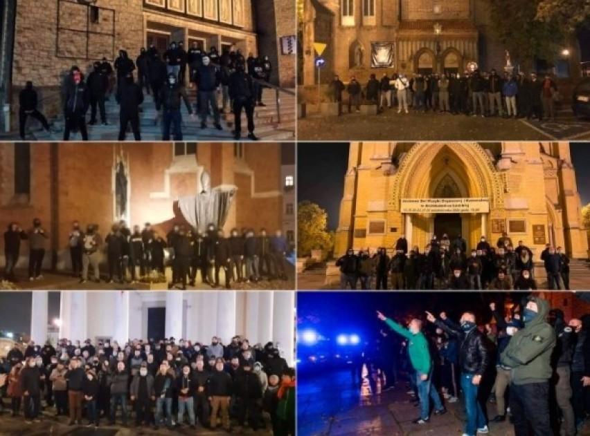 Pseudokibice zaatakowali manifestujących w Warszawie....